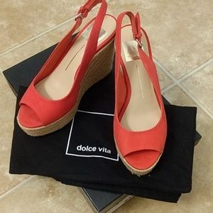 Like New- Dolce Vita Red Espadrilles